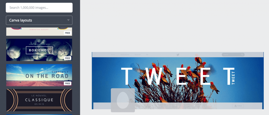 Example of Canva's Twitter headers template