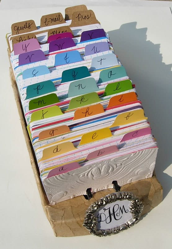 Boss's Day Gift Ideas: Custom Rolodex