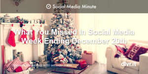 Social Media Roundup: Top Posts Week of December 20