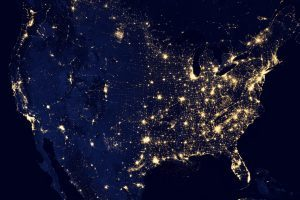 USA from space at night
